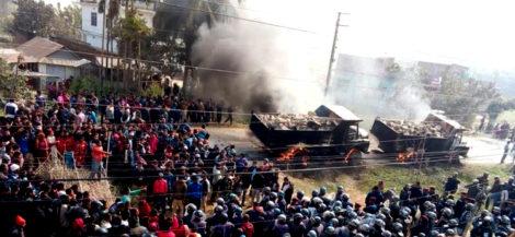 ट्रिपरको ठक्करले ११ वर्षीय बालिकाको मृत्यु, आक्रोशित स्थानियले जलाए ८ वटा ट्रिपर
