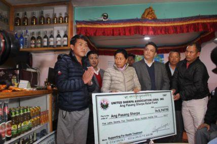 शेर्पा किदुगबाट एक खुट्टा गुमाएका पासाङलाई करिब ७ लाख सहयोग