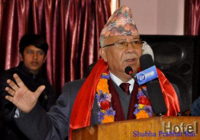 पर्यटन वर्षमा २० लाख हैन, एक करोड पर्यटक भित्र्याउने लक्ष्य लिनुपर्छ : माधव नेपाल