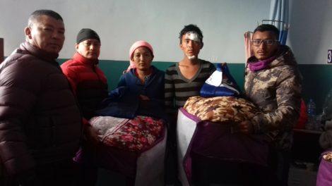 नुवाकोट दुर्घटना पिडितलाई तामाङ समाज अमेरिकाको सहयोग