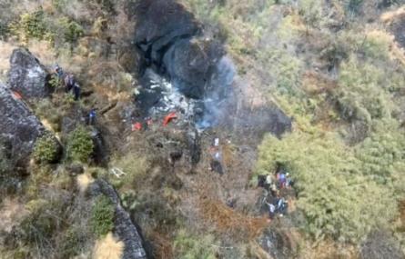 हेलिकप्टर दुर्घटनामा पर्यटनमन्त्री अधिकारीसहित सातै जनाको मृत्यु