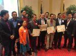 एनआरएन अध्यक्ष पौडेल र कानुन व्यवसायी क्षेत्री सहित दुई नेपाली सम्मानीत