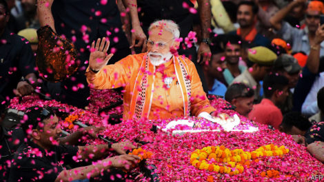 भारतीय लोकसभा निर्वाचनको अन्तिम परिणाम : भाजपालाई भारी बहुमत, कांग्रेस ५२ सिटमा विजयी