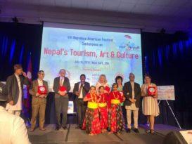 नेपालको पर्यटन प्रवर्द्धन गर्न न्युयोर्कमा 'कन्फ्रेन्स', नेपाल घुम्न आउन शिक्षामन्त्री पोखरेलले दिए निम्तो