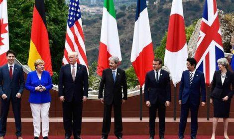 जी ७ सम्मेलनमा व्यापार युद्ध