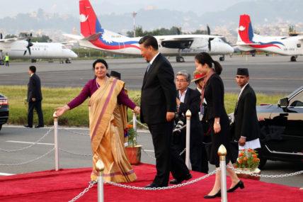 चिनियाँ राष्ट्रपति सी काठमाडौंमा, समकक्षी भण्डारीले गरिन् स्वागत