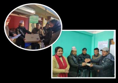 बागमती गाउँपालिकाको सहयोग : चार विद्यालयलाई प्राविधिक शैक्षिक सामाग्री, पाँच माविलाई पुस्तकालय सामाग्री