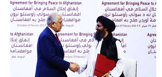 अमेरिका र अफगानी तालिवान समूहबीच शान्ति सम्झौता