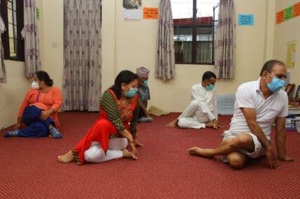 छैटौँ अन्तर्राष्ट्रिय योग दिवस मनाइँदै