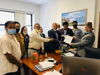 जनसम्पर्क समिति अमेरिकाद्वारा नेपाल सरकारलाई ज्ञापनपत्र