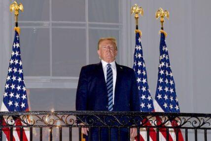 ह्वाइट हाउसको बार्दलीबाट राष्ट्रपति ट्रम्पको सम्बोधन