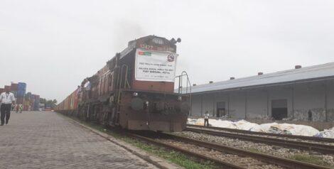 वीरगञ्ज आइपुग्यो पहिलो निजी कार्गो रेल