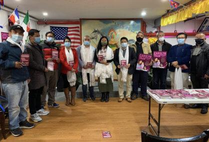 क्यारोलिन ट्र्यानलाई नेपाली समुदायको समर्थन