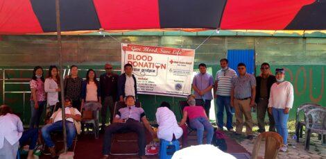 कोरोना महामारिको वीच राजधानीमा रक्तदान